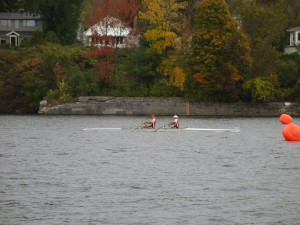 Mixed double (Hobbs and Williams) at the finish line